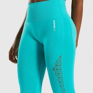Gymshark Seamless Energy Legging Tropical Sea Blue